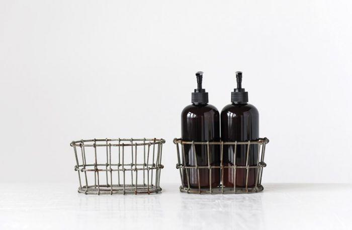 wire soap bottle holder