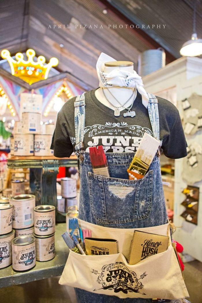 jg paint label work apron