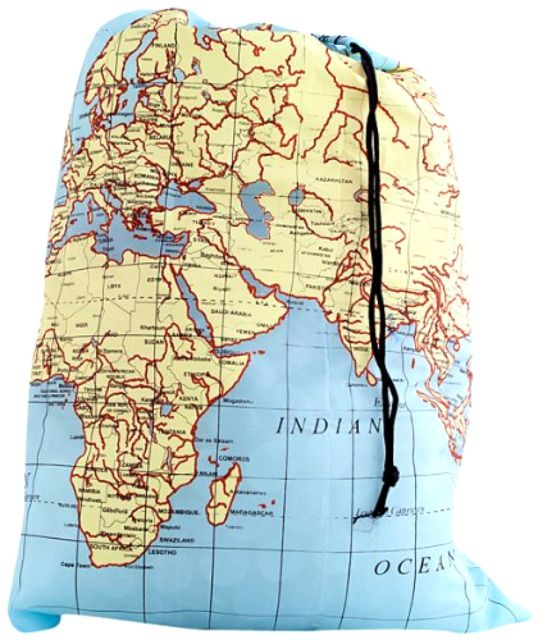 WOrlD map travel laundry bag