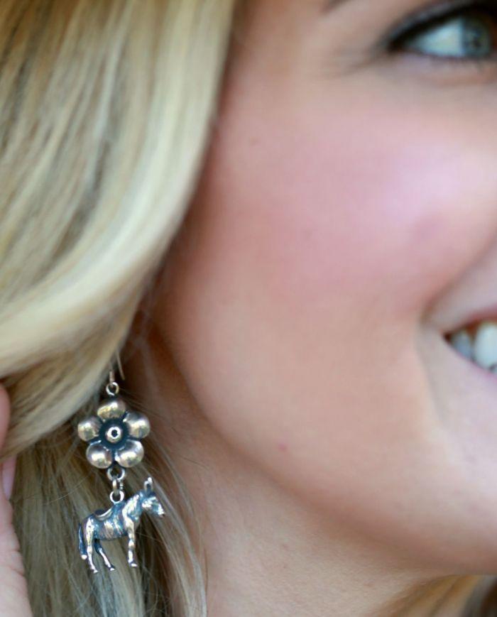 donkey flower earrings