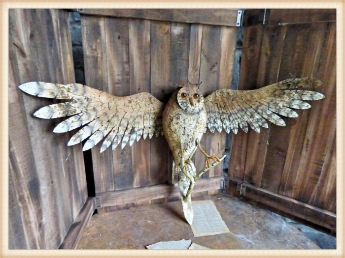 flying wall mount owl